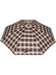 Burberry Check Print Folding Umbrella Black