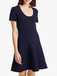 French Connection Voletta Dress Utility Blue