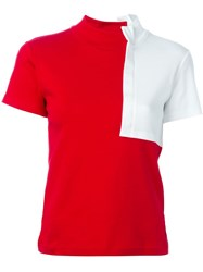Jacquemus Bicolour T Shirt Red