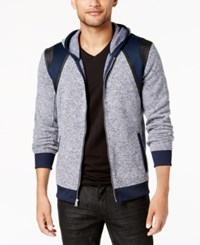 Inc International Concepts Men's Colorblocked Hoodie Created For Macy's Basic Navy