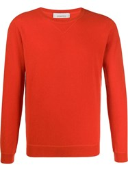Laneus Crew Neck Cashmere Sweater Orange