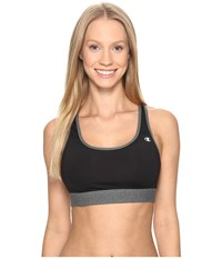 Champion Moderate Support Compression Bra Black Granite Heather Women's Bra