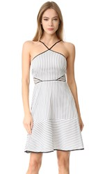 Zac Posen Goldie Dress Black White