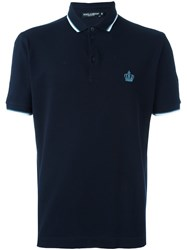 Dolce And Gabbana Classic Polo Shirt Blue