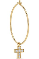 Sophie Bille Brahe Giulietta 18 Karat Gold Diamond Hoop Earring One Size