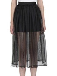 Givenchy Tulle Overlay Mini Skirt Black
