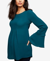 A Pea In The Pod Maternity Bell Sleeve Tunic Mountain Pine