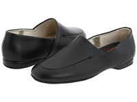 L.B. Evans Duke Opera Black Leather Men's Slippers