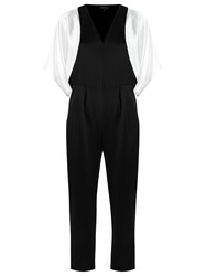 Gloria Coelho V Neck Jumpsuit Black