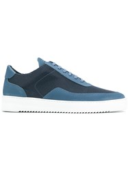 Filling Pieces Flat Sole Sneakers Blue
