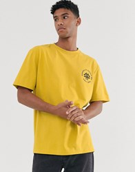 Brooklyn Supply Co. Co Oversized T Shirt With Logo In Yellow