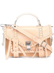 Proenza Schouler Tiny 'Ps1' Satchel Nude And Neutrals