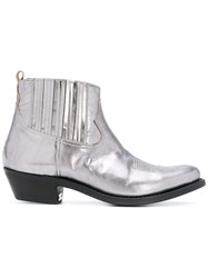 Golden Goose Deluxe Brand Crosby Boots Women Leather 38.5 Grey