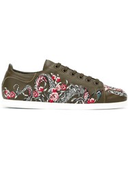 Alexander Mcqueen Embroidered Tattoo Sneakers Green
