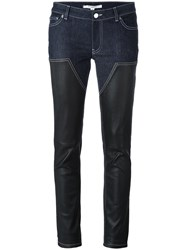 Givenchy Panelled Skinny Trousers Blue