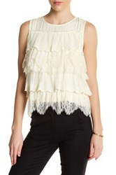 Ella Moss Tiered Lace Tank White