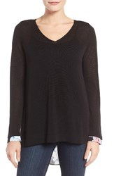 Nydj Women's Cutaway Back Layer Look Sweater