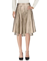 Brigitte Bardot Knee Length Skirts Platinum