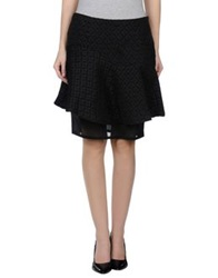 Noshua Knee Length Skirts Black