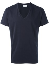 Closed V Neck T Shirt Blue