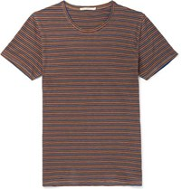 Nudie Jeans Anders Striped Organic Cotton Jersey T Shirt
