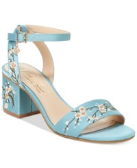 Nanette Lepore By Ruby Two Piece Block Heel Sandals Only At Macy's Women's Shoes Dusty Blue