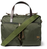Filson Dryden Leather Trimmed Nylon Briefcase Green