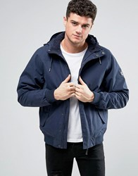 Rvca Humble Hooded Water Repellent Jacket Navy