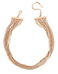 Kenneth Cole Knots And Pearls Crystal Chain Necklace Blush