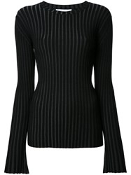 Le Ciel Bleu Pleated Jumper Black