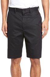 Nordstrom Big And Tall Shop Flat Front Supima Cotton Shorts Black Caviar