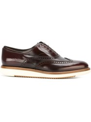 Salvatore Ferragamo 'Love' Derby Shoes Brown
