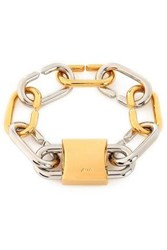 Alexander Wang Gold And Silver Plated Chain Bracelet Gold