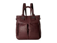 French Connection Kim Large Backpack Biker Berry Bubble Pu Backpack Bags Brown
