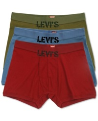 Levi's 100 Series Men's Boxer Briefs 3 Pack Blue Olive Red