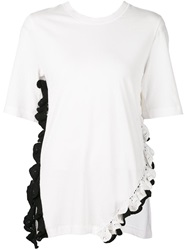 3.1 Phillip Lim Crochet Trim Top White