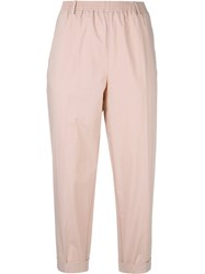Forte Forte Cropped Pants Pink Purple