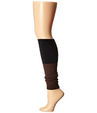 Steve Madden Slouch Marl Leg Warmer Chocolate Black Women's Knee High Socks Shoes Brown