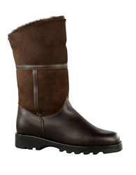 La Canadienne Kosmo Shearling Lined Suede And Leather Boots Brown