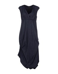 Manila Grace Dresses 3 4 Length Dresses Women Slate Blue
