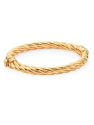 Tory Burch Twisted Rope Hinge Bangle Gold