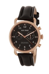 Jack Spade Men's Norton 2 Eye Chronograph Watch Black