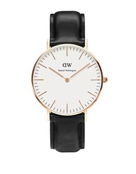 Daniel Wellington Sheffield Leather Strap Watch Black