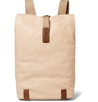 Brooks England Pickwick Small Washed Leather Backpack Sand