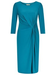 Planet Jersey Twist Dress Bright Blue