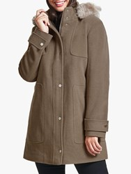 Four Seasons Trimmed Hood Parka Brown