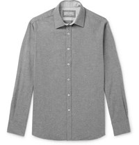 Canali Brushed Cotton Shirt Gray