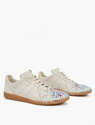 Maison Martin Margiela Off White Paint Splatter Pollock Sneakers