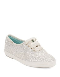 Kate Spade Wedding Lace Up Sneakers White