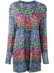 Missoni Vintage Open Front Knitted Cardigan